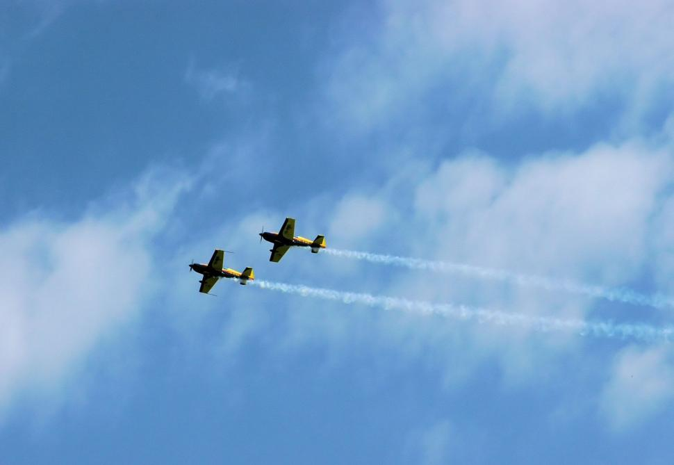 Download Free Stock Photo of Aerobatic team making loopings in the air