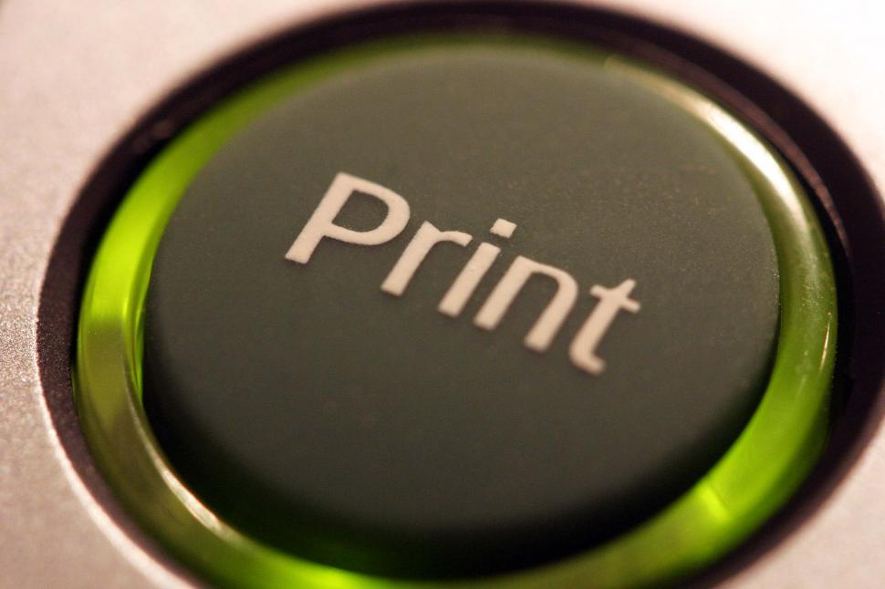 Download Free Stock HD Photo of Green print button Online