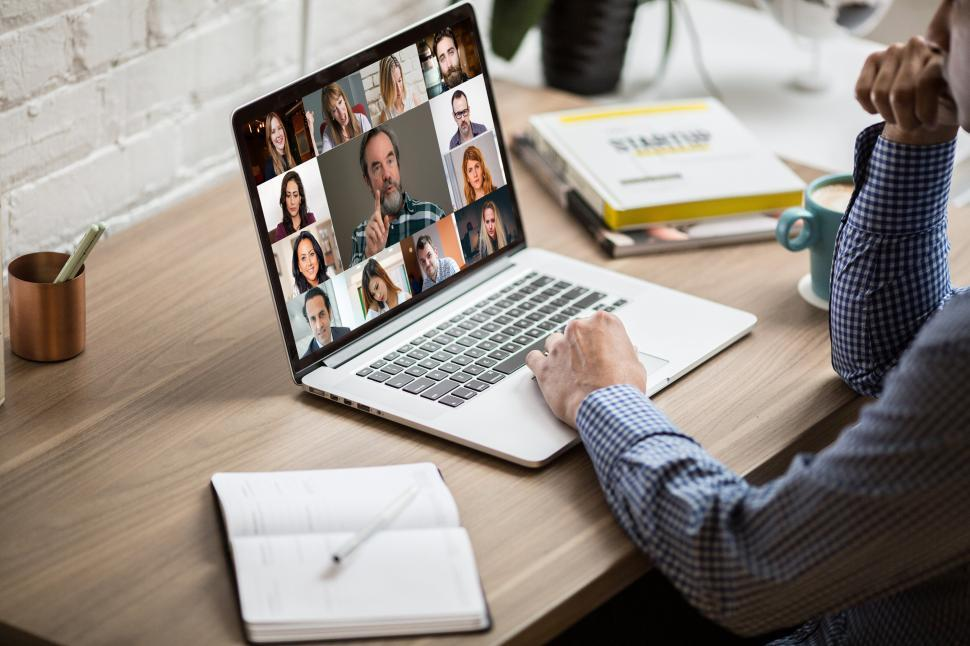 Download Free Stock Photo of Working From Home - Videoconference Call - Online Meeting - Busi