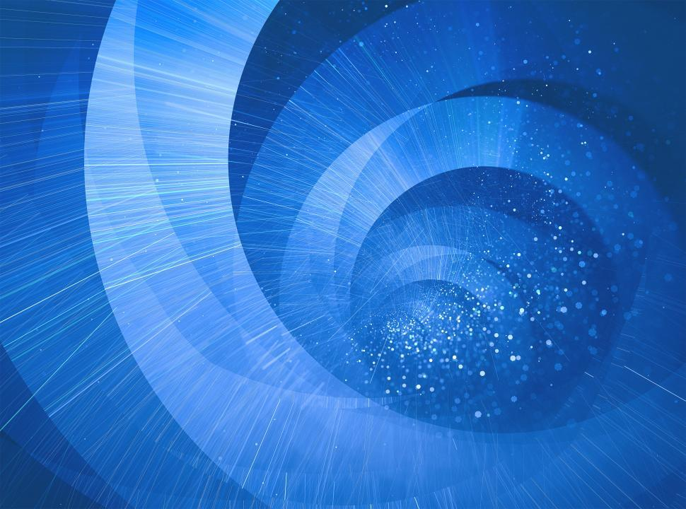 Download Free Stock Photo of Abstract blue spiral background