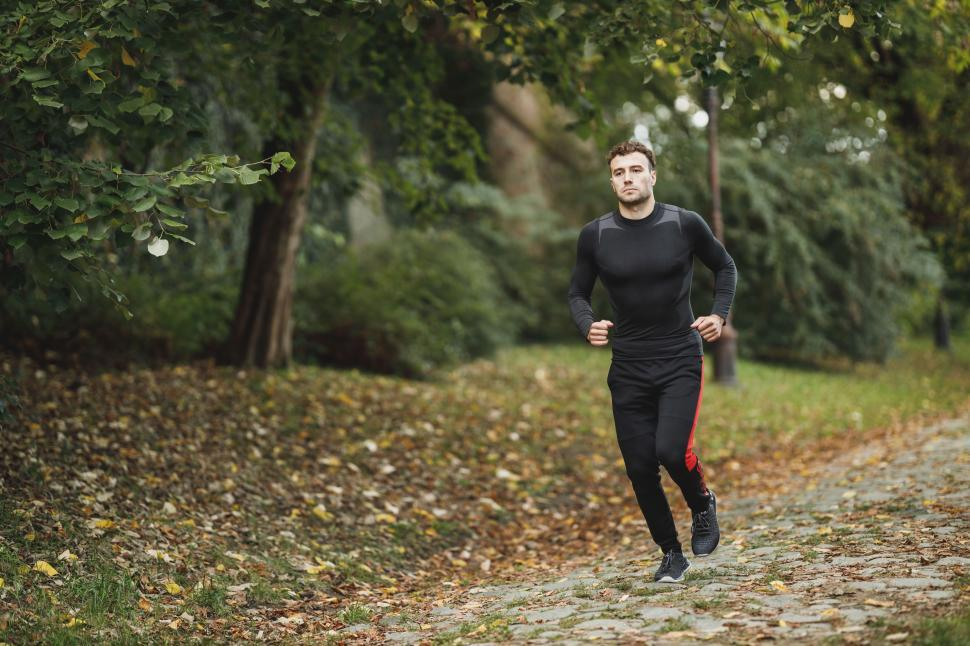 Download Free Stock Photo of Male athlete running in the park