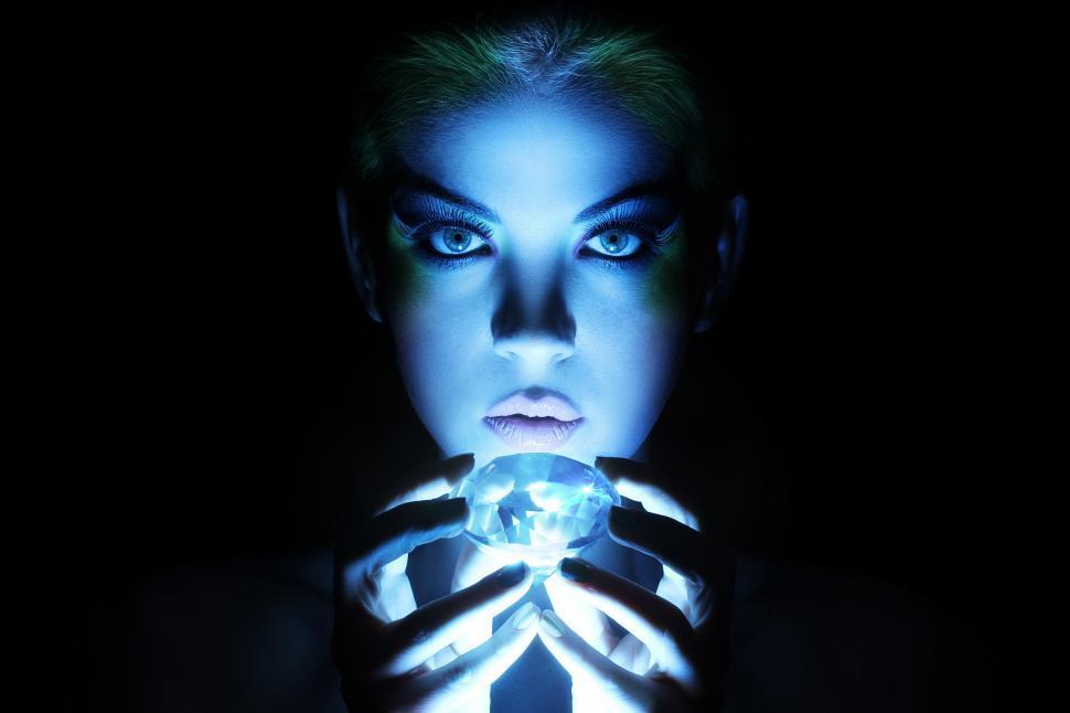 Download Free Stock Photo of Beautiful woman with big jewel
