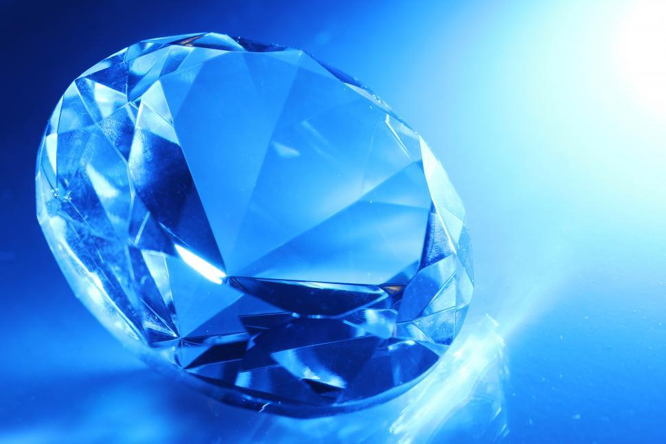 Download Free Stock Photo of Large faceted cut jewel in dramatic light