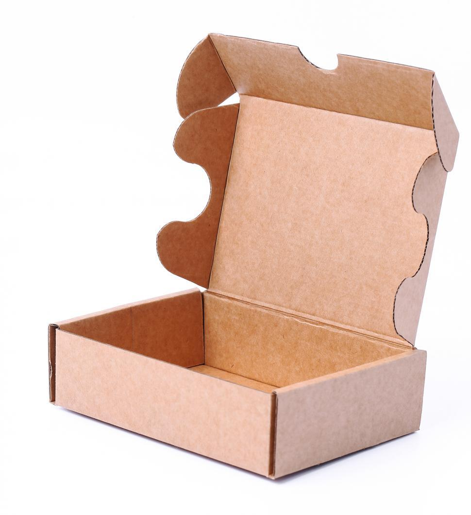 Download Free Stock Photo of Cardboard box open