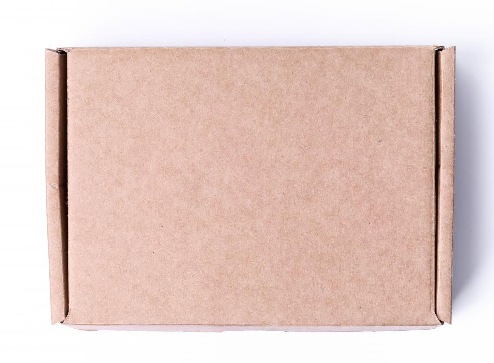 Download Free Stock Photo of One cardboard box