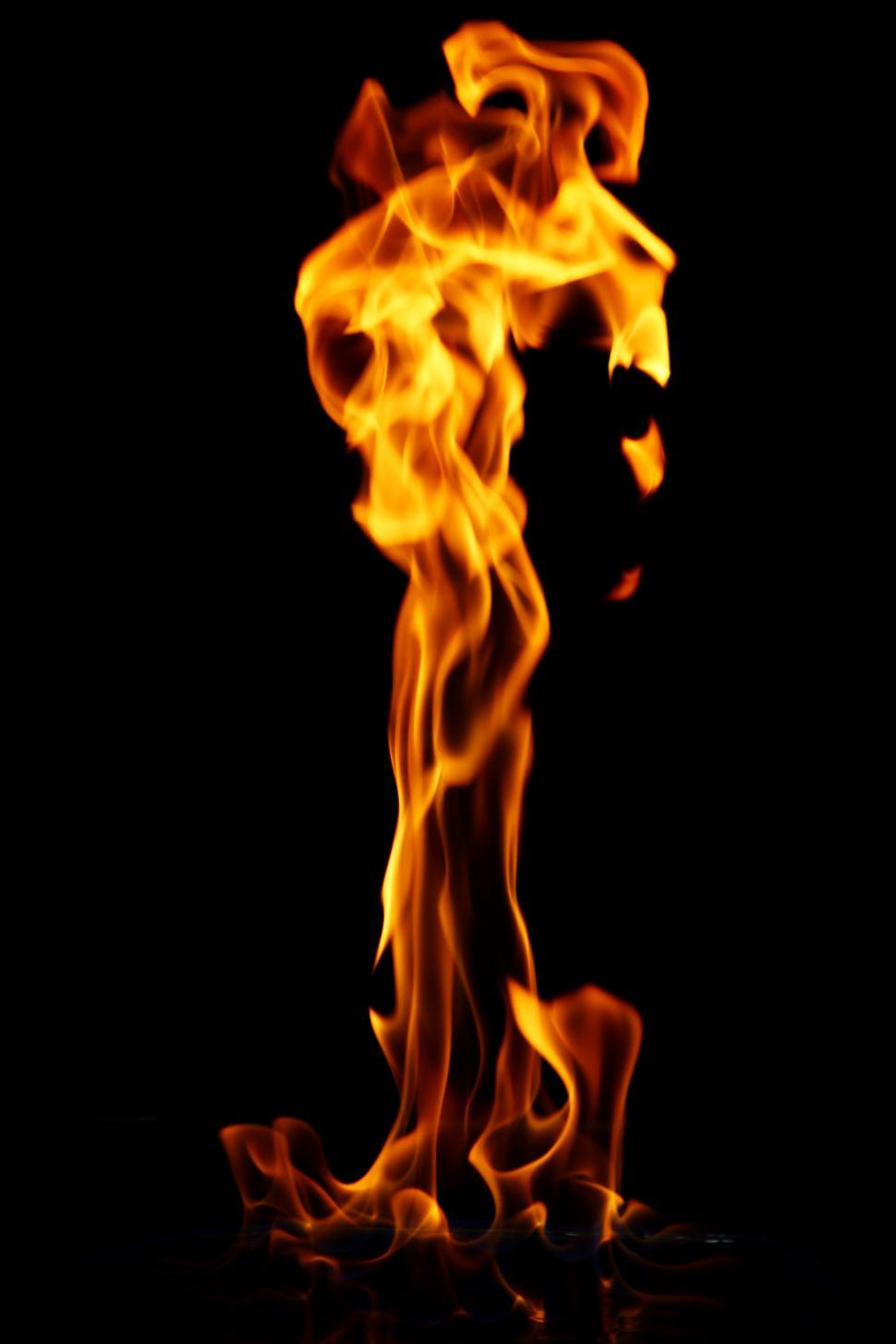 Download Free Stock Photo of Glowing flame of a hot fire