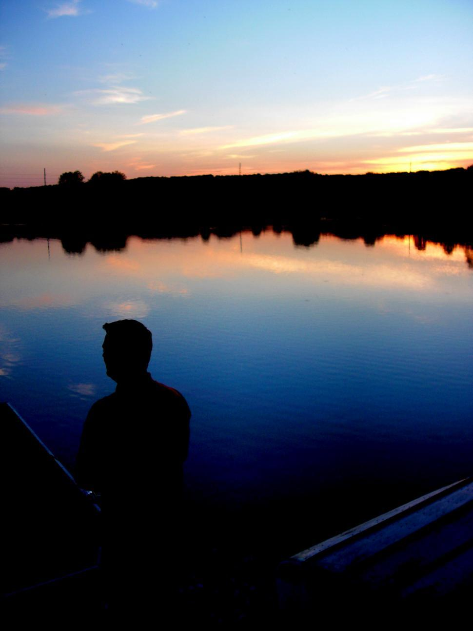 Download Free Stock HD Photo of Fishing at Dusk Online