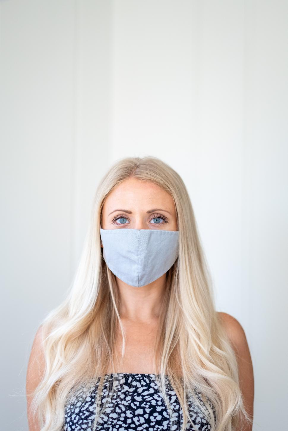 Download Free Stock Photo of Woman with face mask - Corona Protection