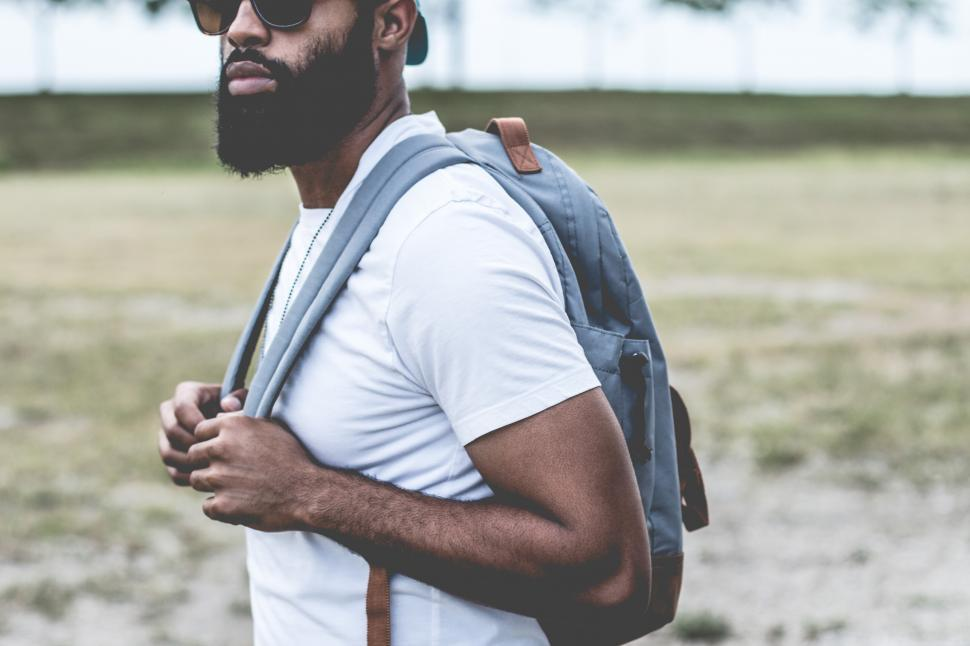 Download Free Stock Photo of Stylish bearded man with sunglasses