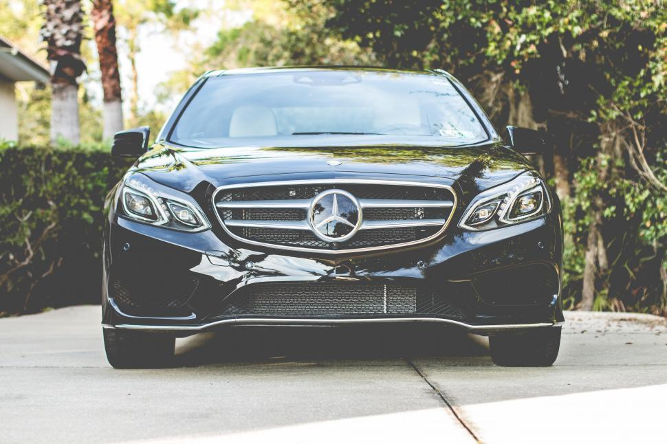 Download Free Stock Photo of Black Mercedes-Benz