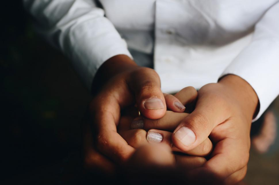 Download Free Stock Photo of Couple hands