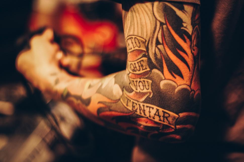 Download Free Stock Photo of Tattoos on arm