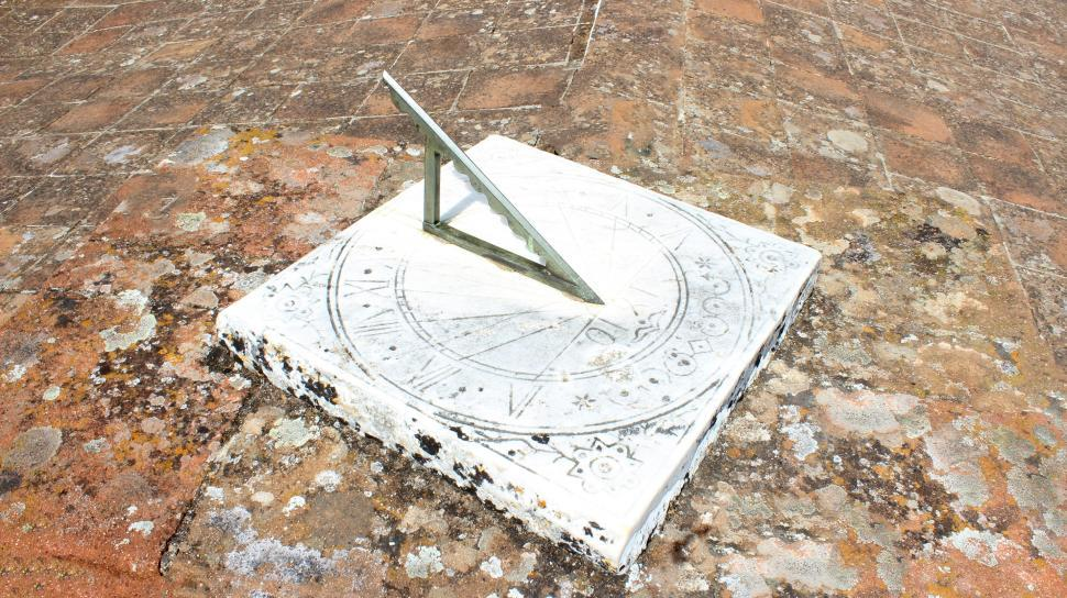 Download Free Stock Photo of Gothic Sundial - Solar Clock - Cathedral of Evora