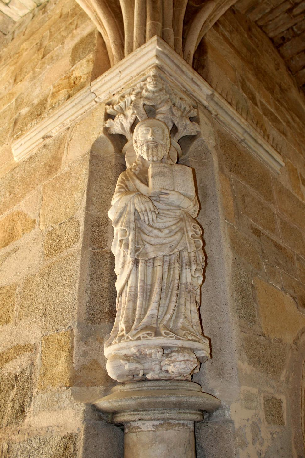 Download Free Stock Photo of Gothic Statue - Medieval Marble Statue of Saint Matthew the Apos