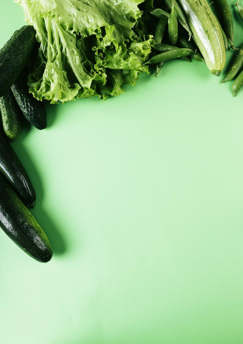Download Free Stock Photo of Green Vegetable background
