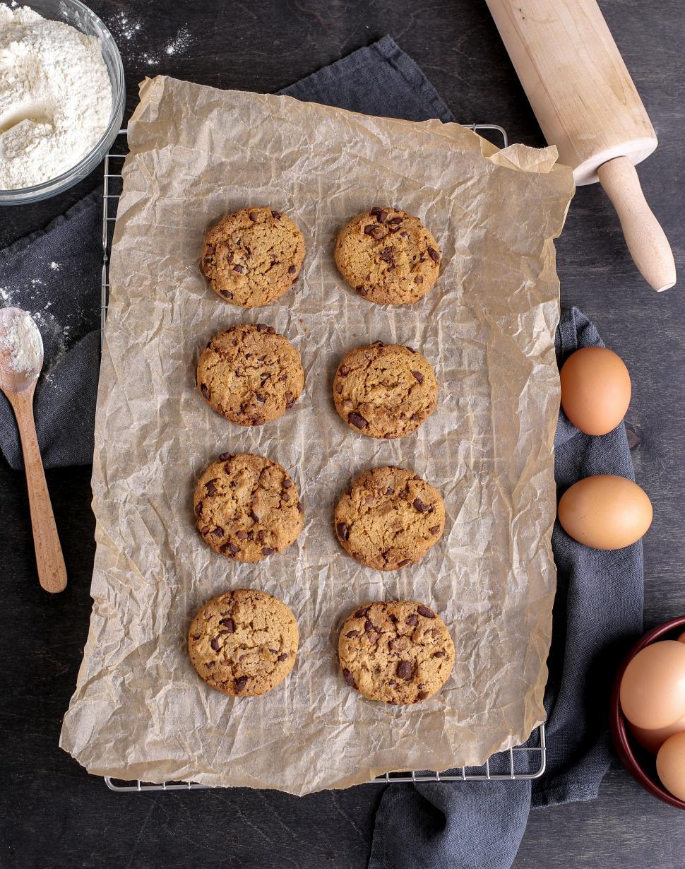 Download Free Stock Photo of Fresh chocolate chip cookies