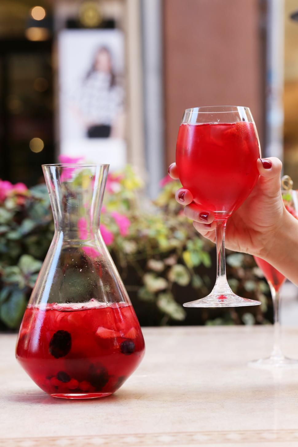 Download Free Stock Photo of Pitcher of sangria