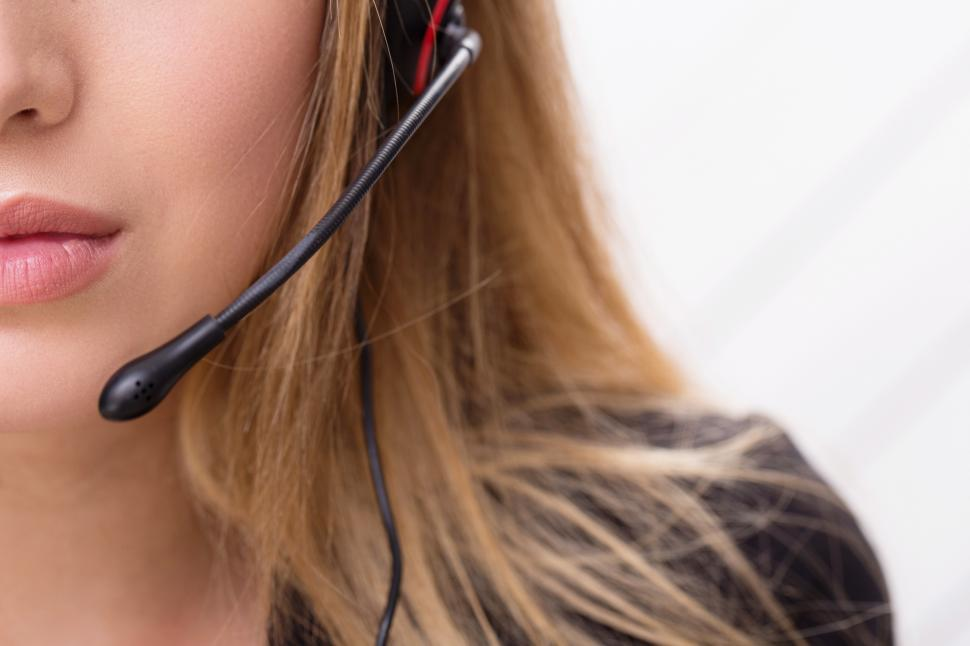 Download Free Stock Photo of Call operator headset