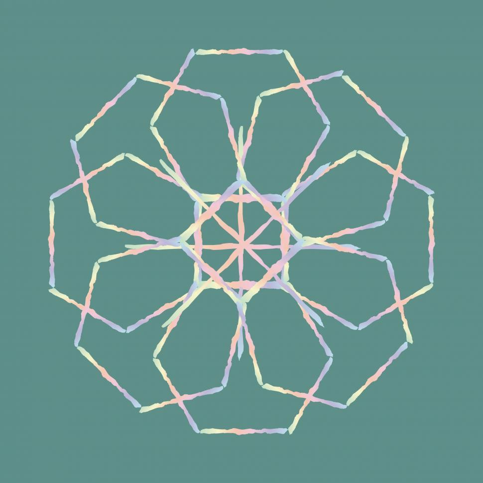 Download Free Stock Photo of Geometric Flower Design
