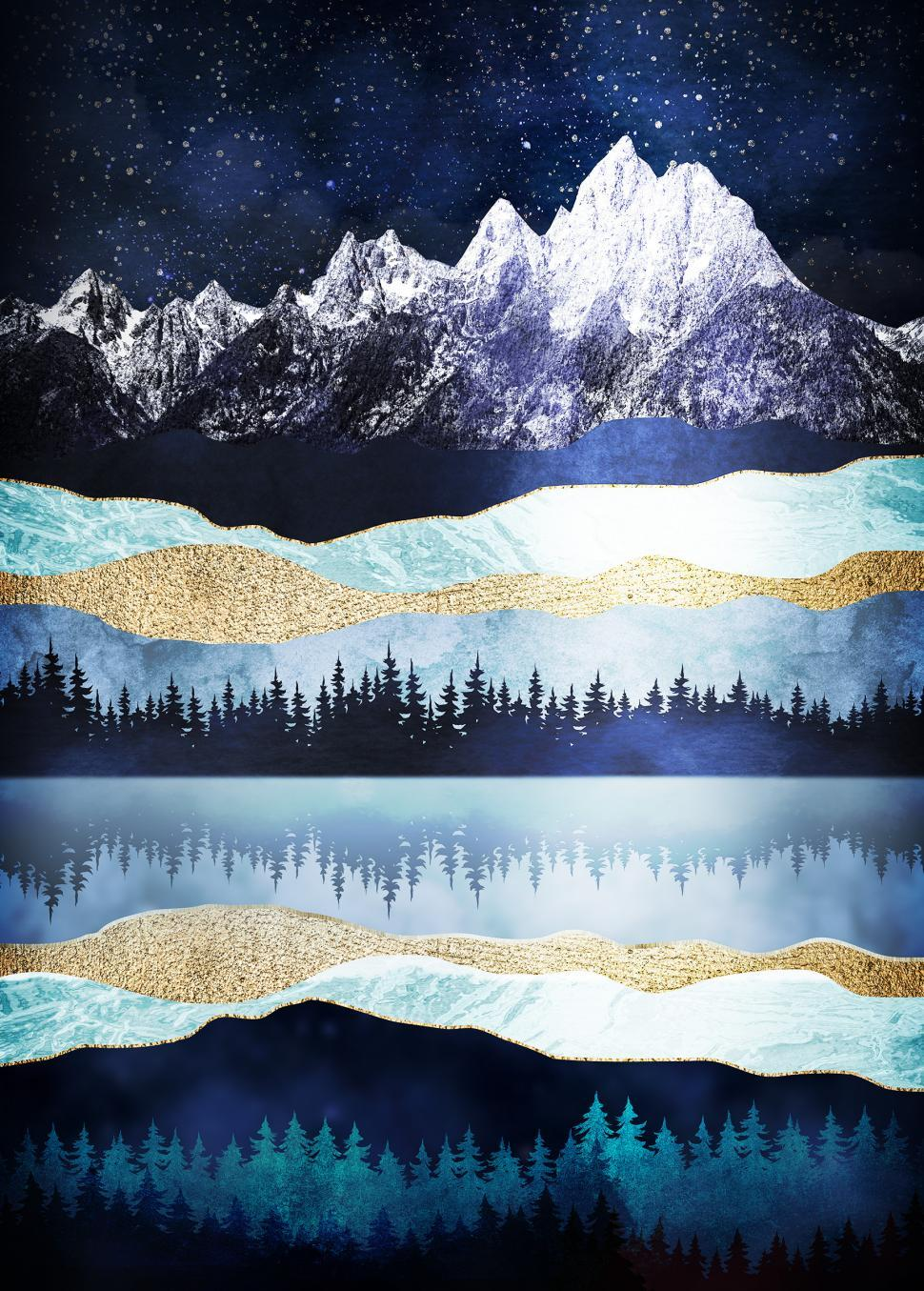 Download Free Stock Photo of Grand Teton National Park - Abstract Texturized Design