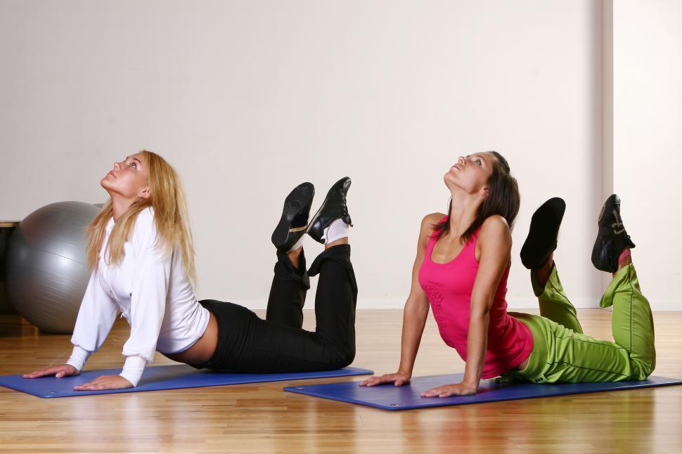 Download Free Stock Photo of Women doing yoga