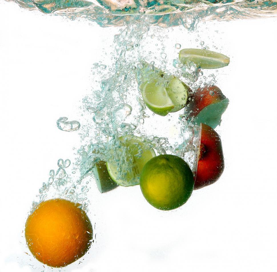 Download Free Stock Photo of Fruit underwater
