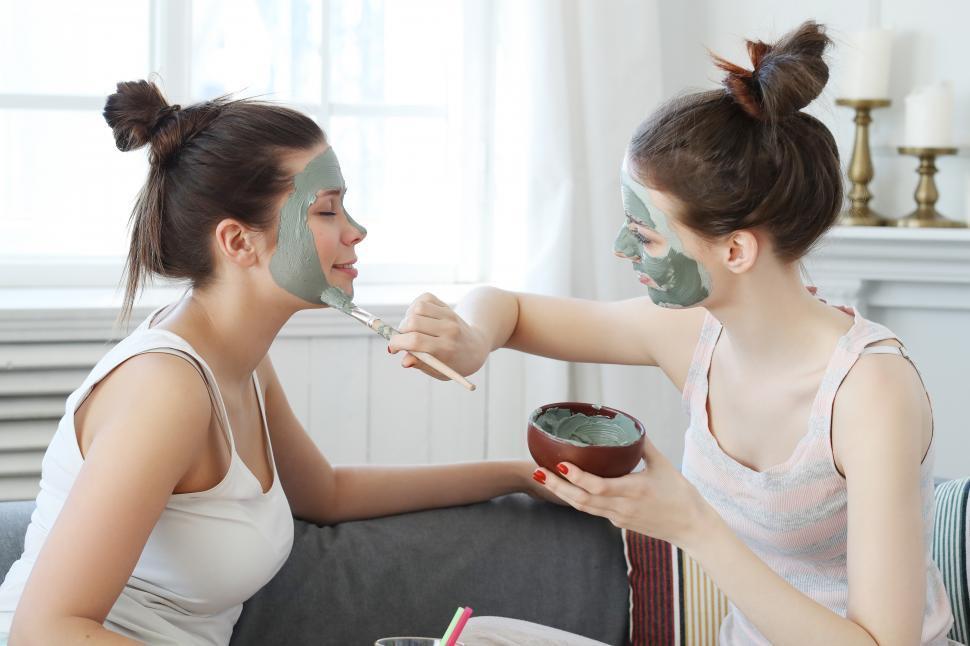 Download Free Stock Photo of Women having a facial