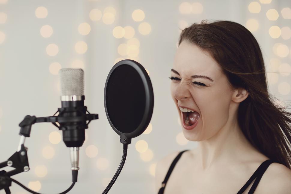 Download Free Stock Photo of Woman singing