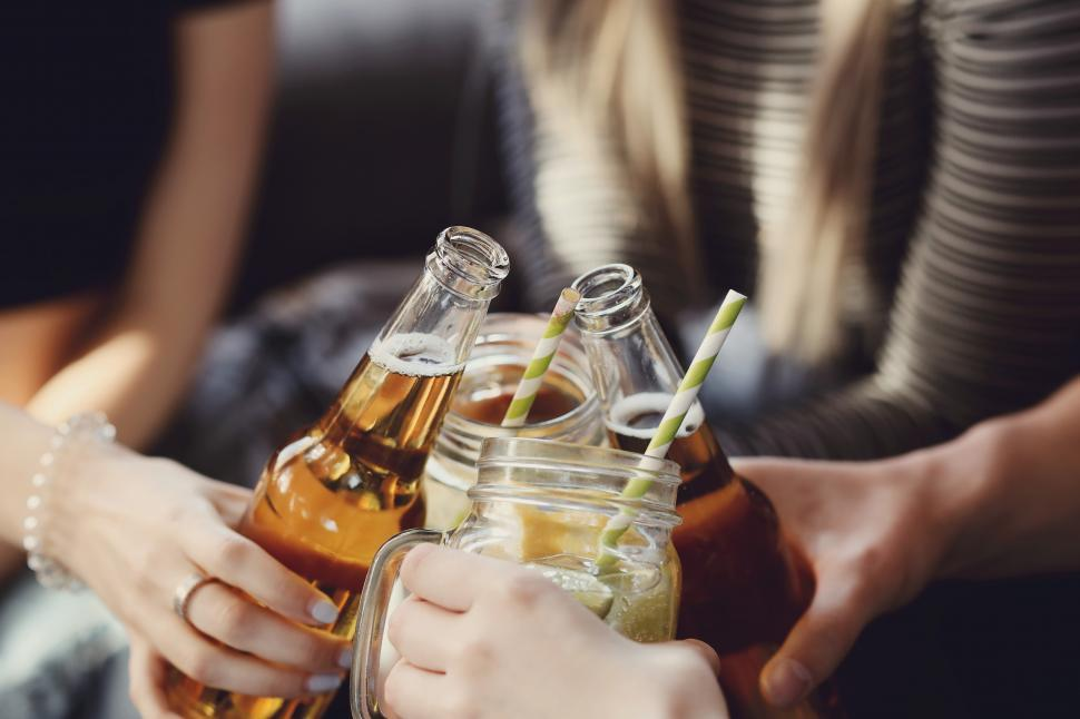 Download Free Stock Photo of Toasting the group