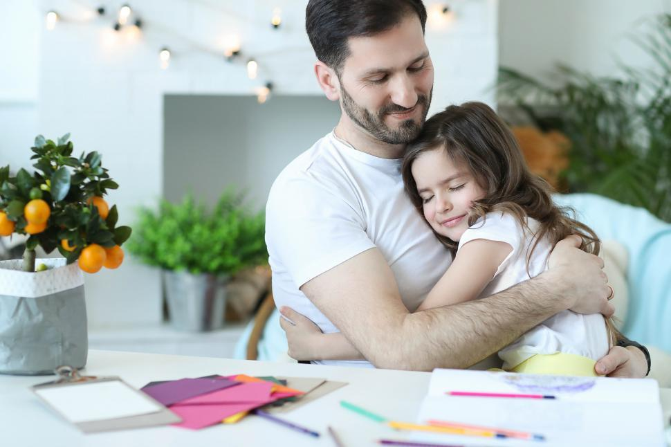 Download Free Stock Photo of Father daughter hug