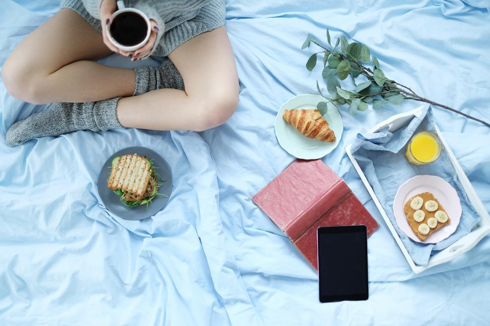 Download Free Stock Photo of Breakfast in bed
