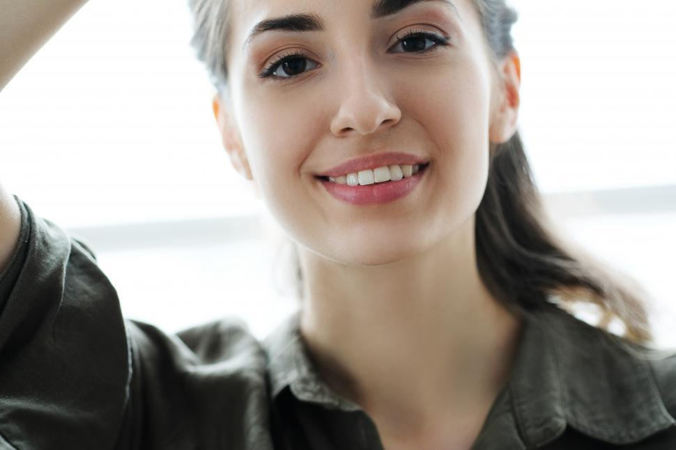 Download Free Stock Photo of Woman looking at the viewer