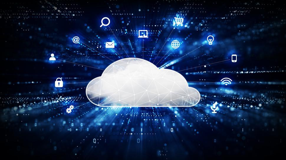 Download Free Stock Photo of Cloud Computing Concept - Cloud and Icons