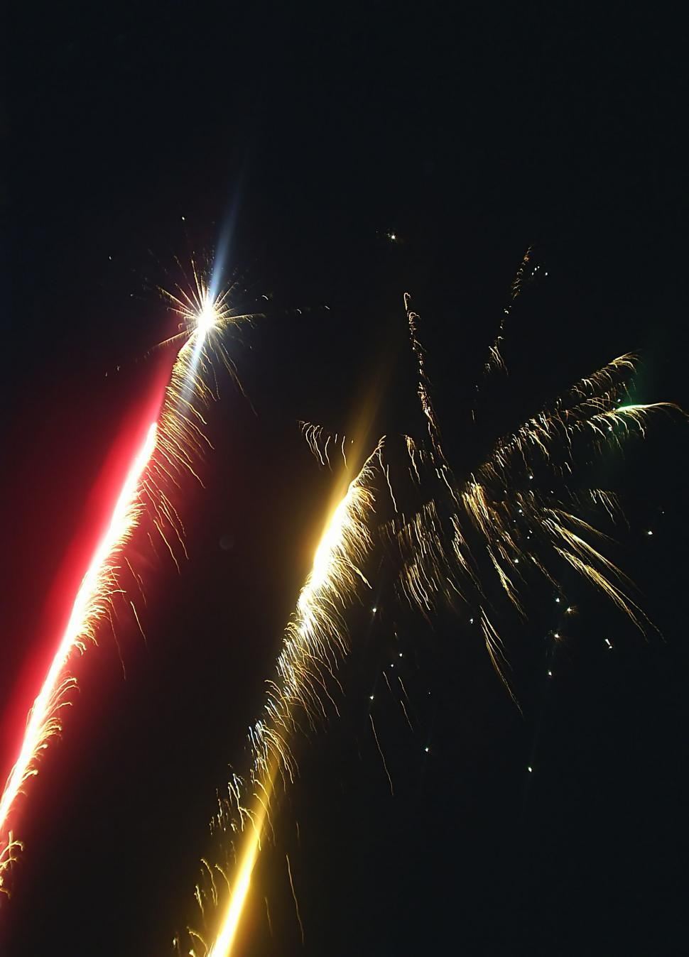 Download Free Stock Photo of Fireworks over the night sky