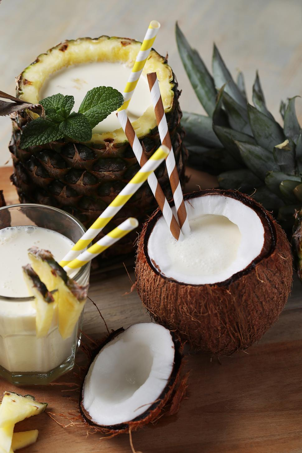 Download Free Stock Photo of Coconut drink