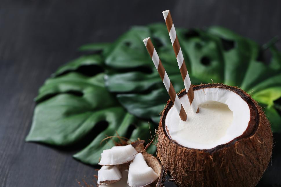 Download Free Stock Photo of Coconut cocktail