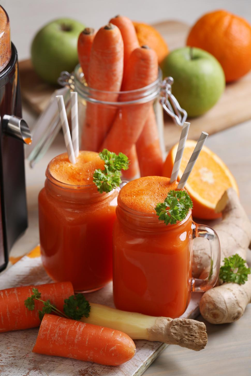 Download Free Stock Photo of Healthy carrot juice