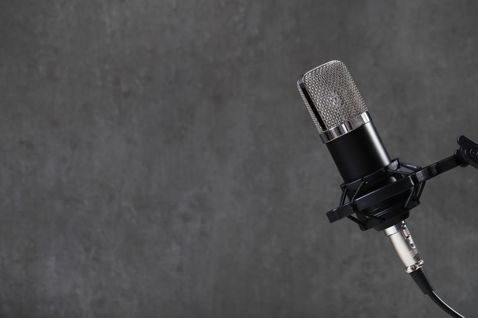 Download Free Stock Photo of Microphone on stand