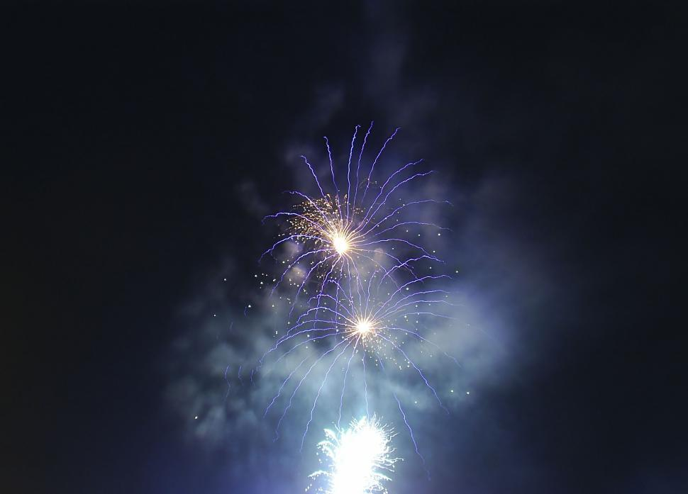 Download Free Stock HD Photo of Fireworks over the night sky Online