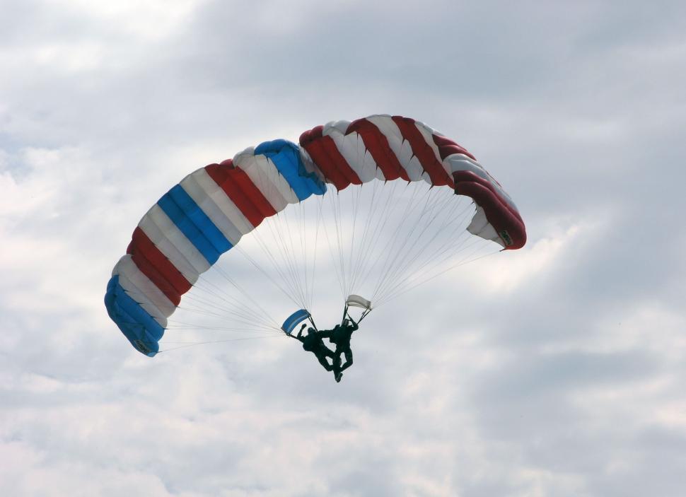 Download Free Stock Photo of Parachutes team