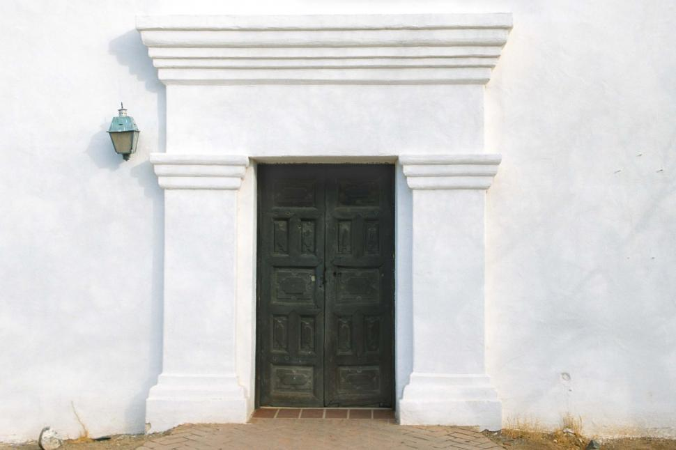 Download Free Stock HD Photo of Entrance door at San Xavier Mission Online