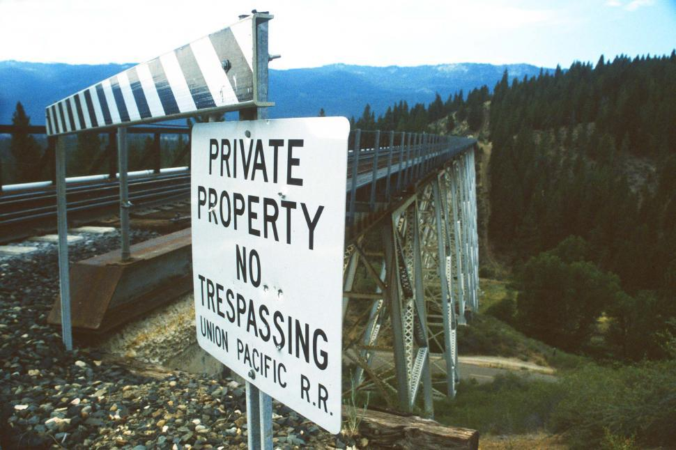 Download Free Stock Photo of Private Property - Train Tracks