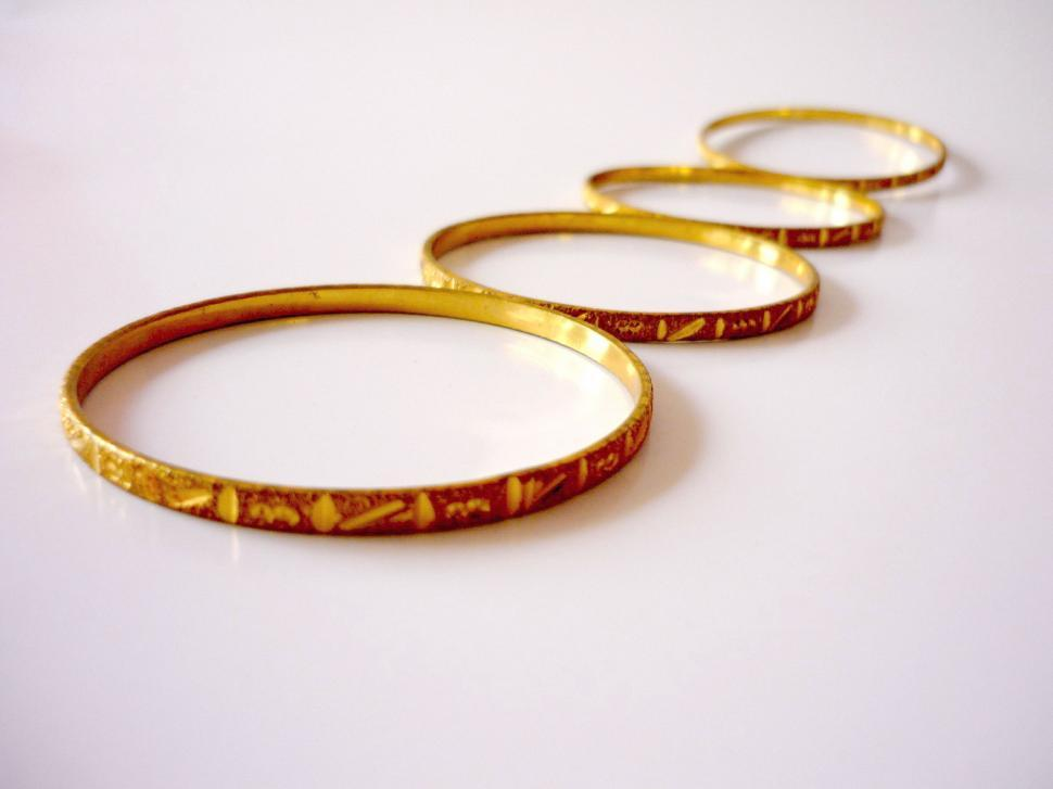 Download Free Stock Photo of Gold Bangles