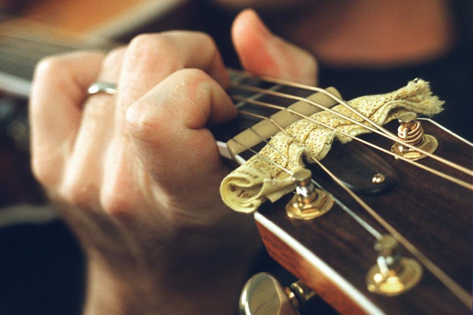 Download Free Stock HD Photo of Hands of a Guitar Player Online