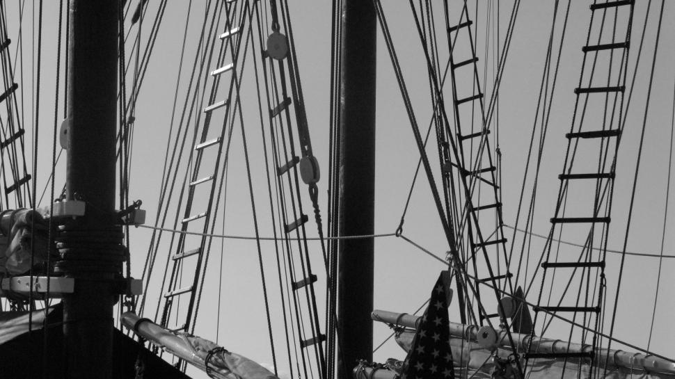 Download Free Stock Photo of Sailboat Rigging
