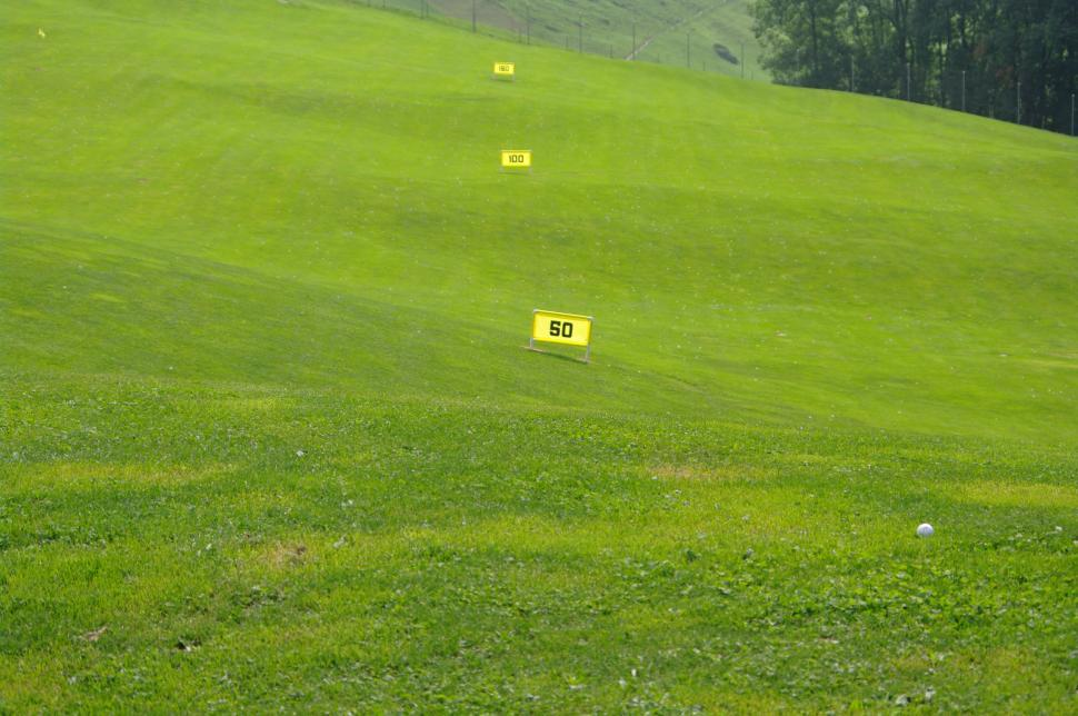Download Free Stock HD Photo of Practice golf yardage markers Online