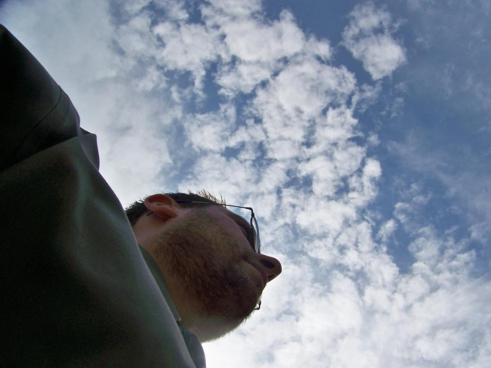 Download Free Stock Photo of A Man In the Clouds