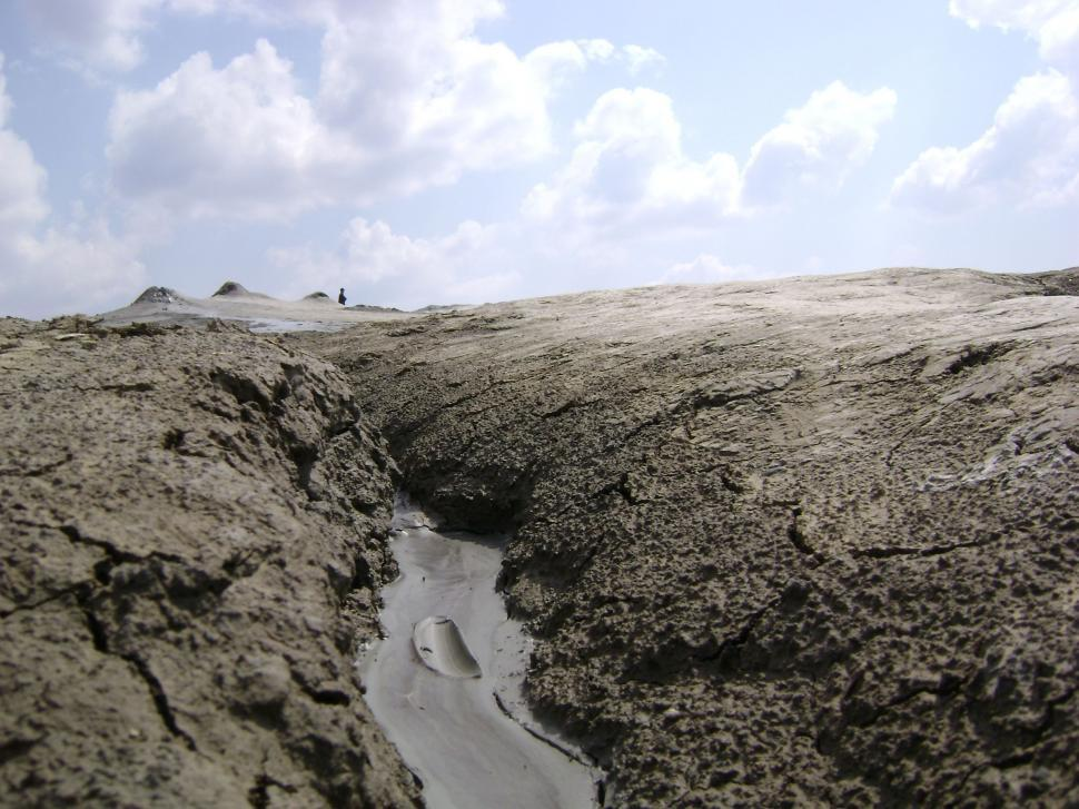 Download Free Stock HD Photo of Mud Volcanoes From Buzau, Romania Online