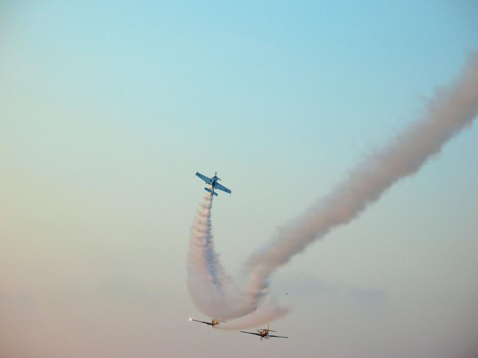 Download Free Stock Photo of Aerobatic team making loopings in the air