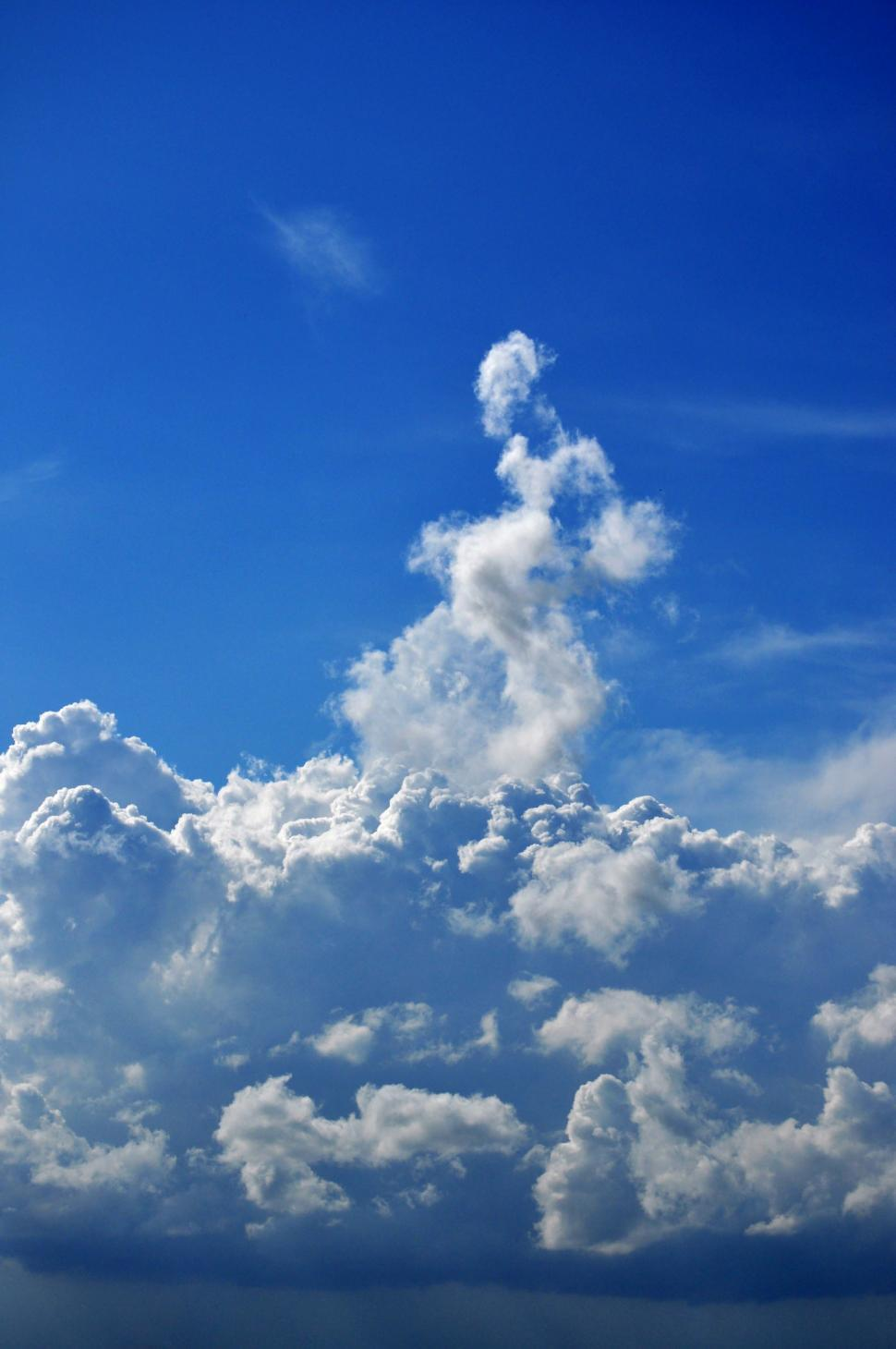Download Free Stock Photo of Clouds in the sky portrait